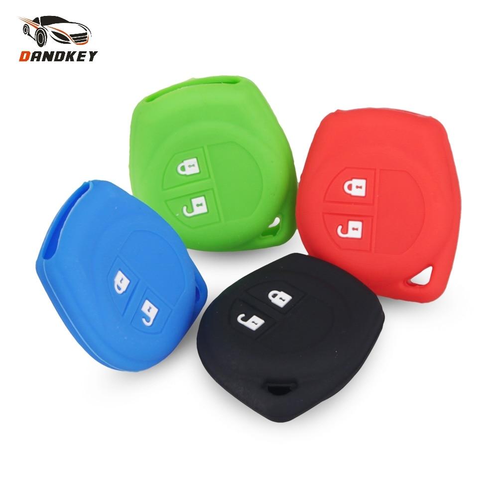 Dandkey 2 Buttons Silicone Rubber Key Cover For SUZUKI SX4 SWIFT LIANA VITARA JIMNY ALTO IGNIS ESTEEM Remote Fob Skin Key Cover