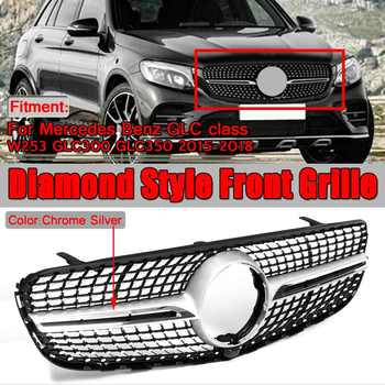 Diamond Style W253 Car Front Bumper Mesh Grille Grill For Mercedes For Benz GLC Class W253 GLC300 GLC350 2015-2019 - DISCOUNT ITEM  33% OFF All Category