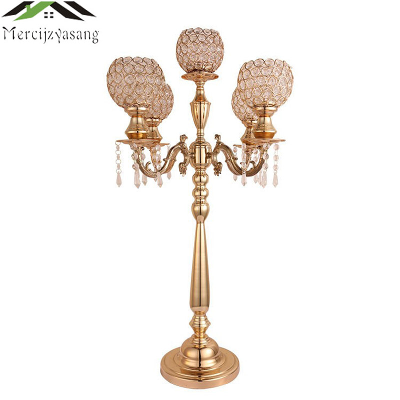 Candle Holders Candlestick Wedding Candle Holder Table Centerpiece Gold/Silver Metal Stand Pillar For Wedding Candelabra G039   Candle Holders Candlestick Wedding Candle Holder Table Centerpiece Gold/Silver Metal Stand Pillar For Wedding Candelabra G039