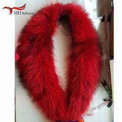 Роскошный зимний шарф Для женщин из натурального меха енота шарфы леди палантины из пашмины шали меховой воротник банданы шарф из