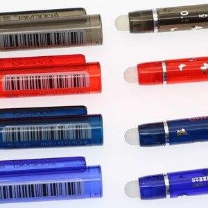 Стираемая гелевая ручка с красными, синими, черными и красными чернилами, волшебные канцелярские принадлежности для письма, нейтральная ру...