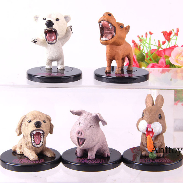 TAKARA TOMY 3rd Polar Bear Dog Pig Rabbit Camel Anime Cartoon Figurine Animal Action Figure Collection Model Toy 5pcs/set