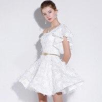 6bbf633c8 ... vestidos de encaje blanco corto Mini ocasión especial fiesta vestido.  New Fashion 2019 Homecoming Dresses Short White Lace Custom Made Mini  Special ...