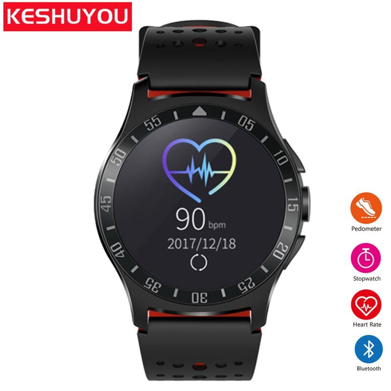 KESHUYOU KY009 Bluetooth smart watch גברים שעון smartwatch אנדרואיד קצב לב Tracker Passometer שעון טלפון לביש מכשירים