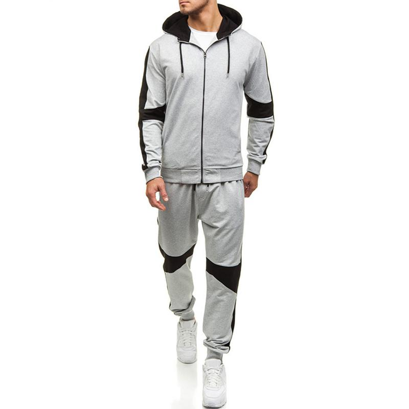 Large Size M~3XL Winter Zip Tracksuits Men Set Thicken Hoodies+Pants Suit Warm Casual Men's Coats Hoodie Sportsuit