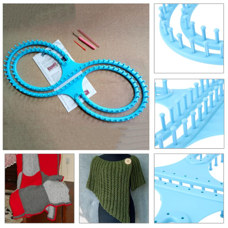 Plastic Afghan Loom Knitting Board Tool With 3 Projects For Sweater ...