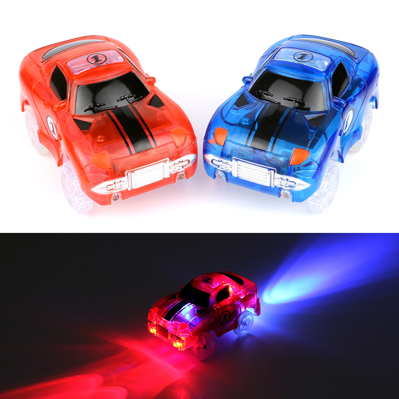 5532041f4acf7 Magic Glowing Flexible Track LED Car Toy 180 240pcs Track+1pc LED Car+Lifts  Track Collection Most Popular Toys Among Children-in Diecasts   Toy Vehicles  ...