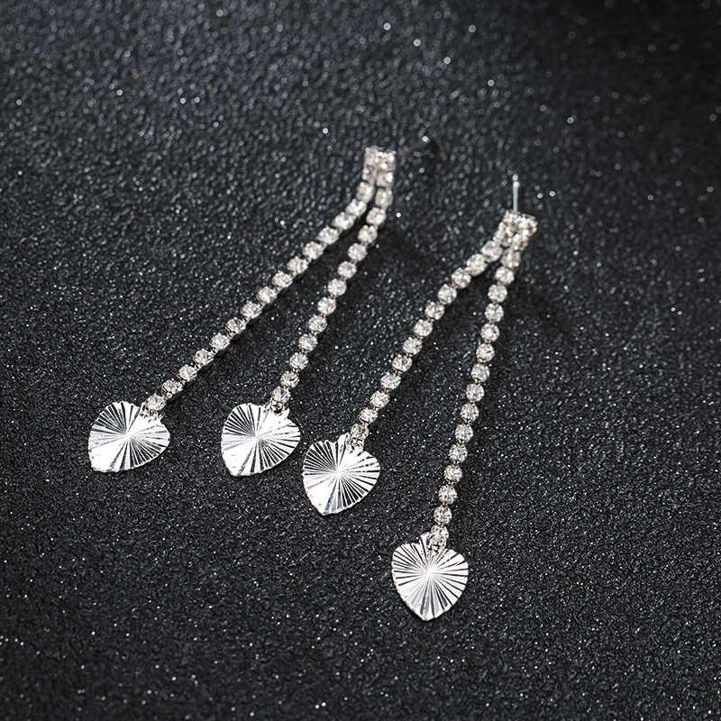 עגילי הצהרת יוקרה לנשים להתנדנד עגיל 2019 אופנה חרישה אופנתי גדול rhinestones חתונה תכשיטי E559