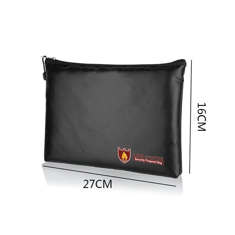 Fireproof Fire Resistant Document Bag Safe Pouch Cash File Passport Waterproof