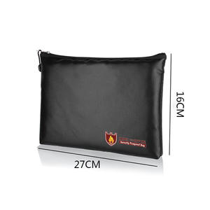 with the Velcro Closure and Fire-proof Zipper This Fireproof Money Bag Protects Your Documents and Files Fire Resistant Cash Bag with Zipper Closure Asixx Fireproof Money Bag