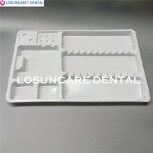 50 шт. Стоматологические одноразовые пластиковые поддоны лоток сегрегированный размещенные маленькие и большие стоматологические инструменты стоматологический поднос расходные материалы