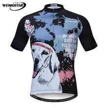 Weimostar Labrador Wolf Style Cycling Jersey Summer Short MTB Bike Jersey  Shirt Downhill Bicycle Clothing Quick Dry Cycling Wear ae96468be