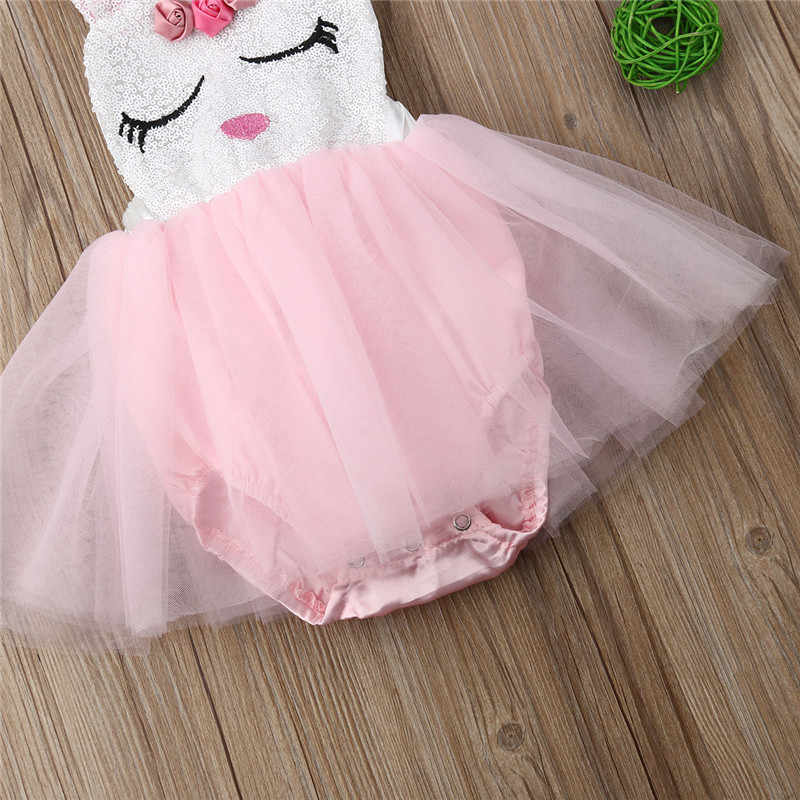 80f3fda459a5 ... Fashion Infant Baby Girl Rabbit Lace Princess Dress Sequins Easter  Clothes Baby Girl Bunny Bow Tutu ...