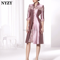 NYZY M141 Elegant Sheath Mother of the Bride Dresses With Bolero Jacket 2 Piece Wedding Guest Dress Party Outfits Church Suits