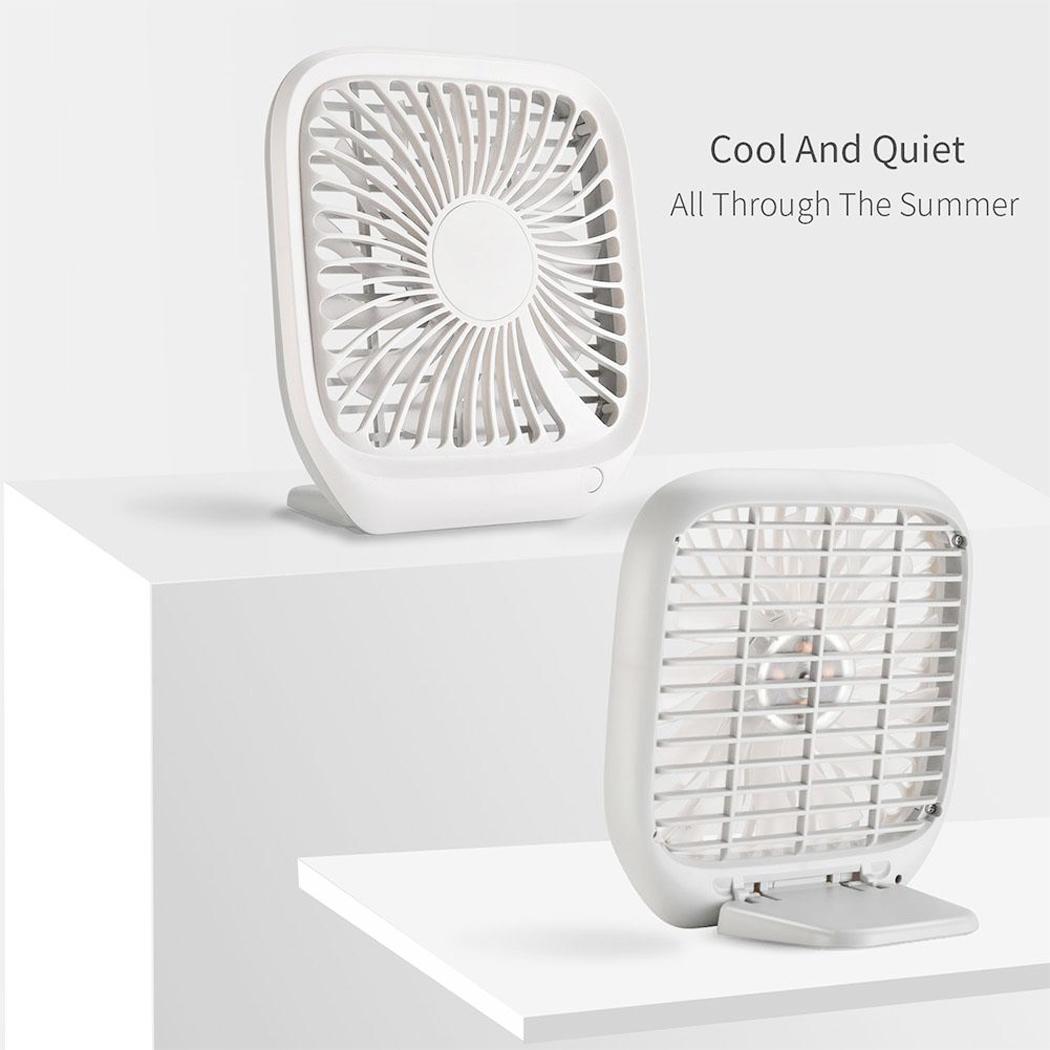Mini Noiseless Desktop Electric Fan Portable USB Charging Third Gear Fan Electric Fan Summer cool fan Gift Decoration