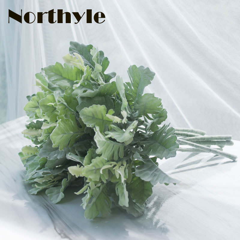 Dream House DH fake Dusty Miller artificial plant  home decoration greenery wedding flower
