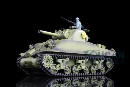 2 4G Henglong 1 16 Scale 6 0 Generation Infrared Battle Plastic Version M4A3 Sherman RTR