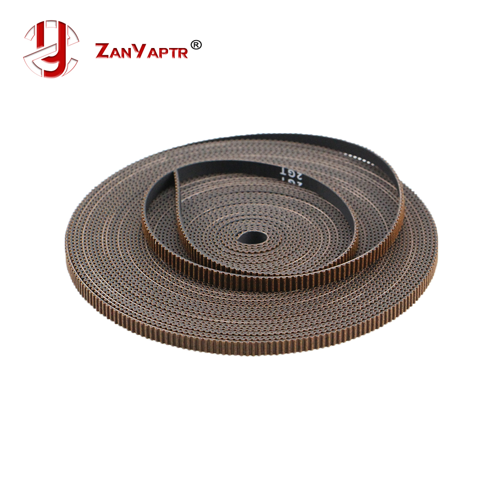 1pc Upgrade 1 Meter GT2 Timing Open Belt For 3D Printer Width 6mm 2GT Pulley Non-slip Rubber Belt 3D Printer Part