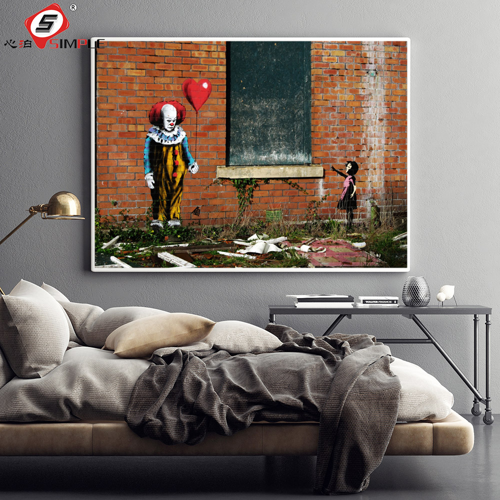 BANKSY Girl with the Red Balloon Canvas Print Graffiti Wall Art Home Decor