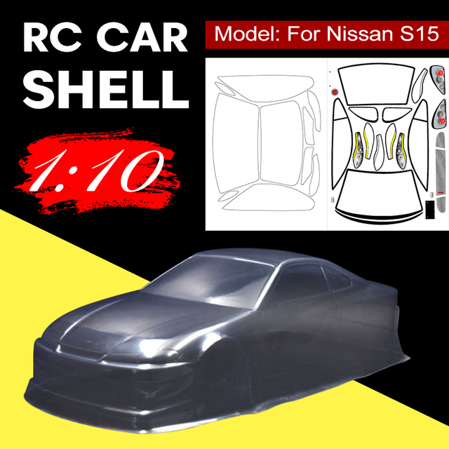 1/10 1:10 PVC Transparent Clean Without Painted DIY Cover Sticker Body Shell For Nissan S15 RC Hobby Racing