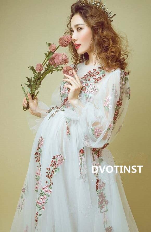 Dvotinst фотографии реквизит средства ухода за кожей для будущих мам платья фотосессии беременных Беременность Платье беременн