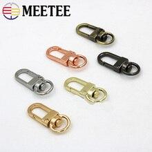 Meetee 10pcs Metal Dog Buckle Spring Snap Clasp Hook KeyDIY Bag Decor Hang Buckles Hardware Leather Carfts Accessories BD441
