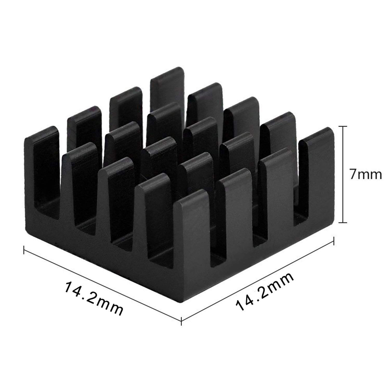 Image 3 - 8pcs for Raspberry Pi Aluminum Heatsink Heat Sink Computer Cooler Radiator For Electronic Chip Heat Dissipation Cooling Pads-in Demo Board Accessories from Computer & Office