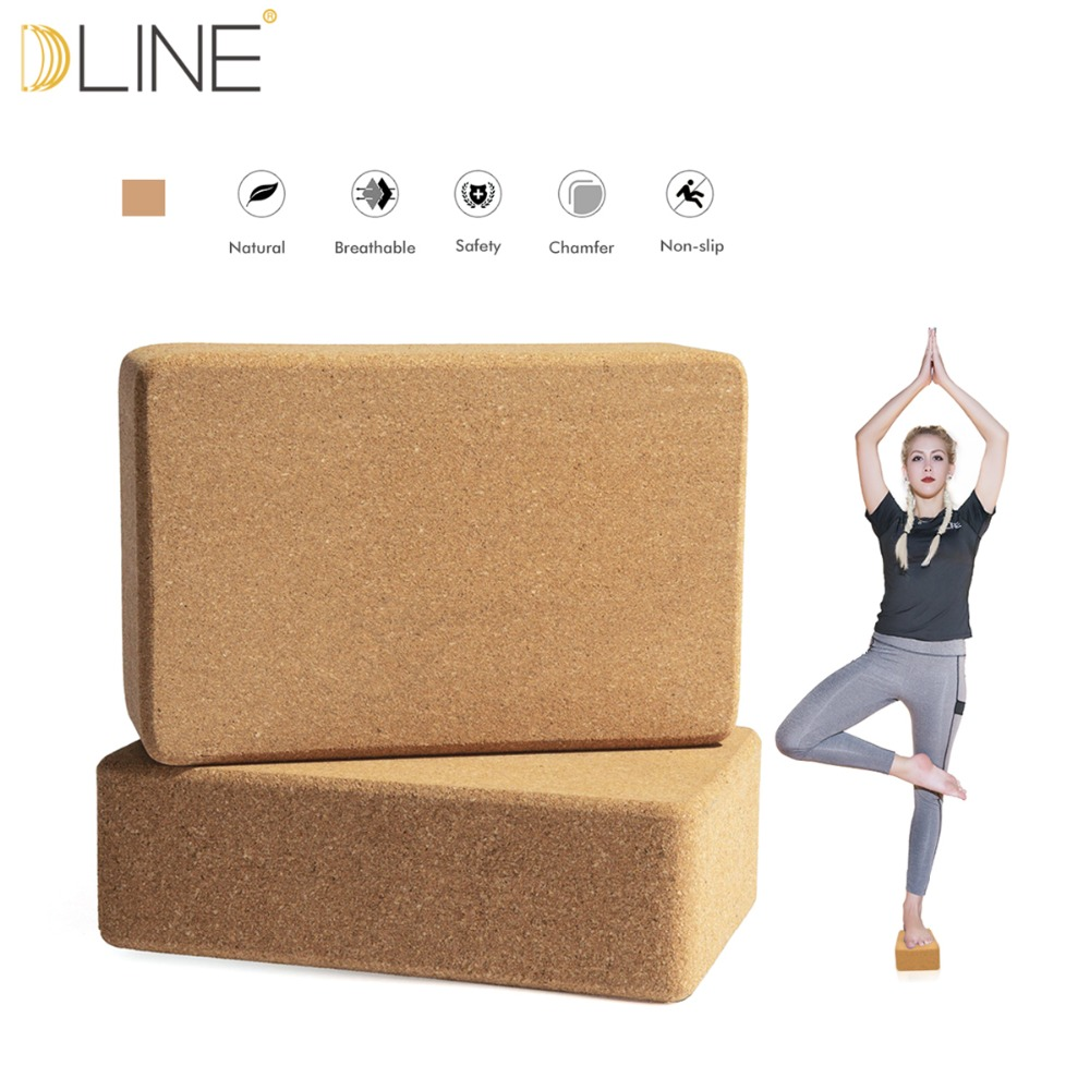Cork Yoga Pilates fitness Block High-density Gym Foam Workout Stretching Aid Body Shaping Training Equipment Yoga Wooden Brick 1pc top healthy organic bamboo wood natural wooden yoga brick training block exercise fitness gym practice tool