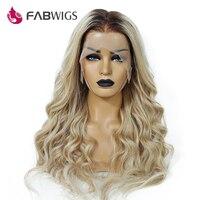 Fabwigs 150% плотность Lemi Цвет парик предварительно сорвал выметания Ombre натуральные волосы парики T4/27/613 Бразильский парик Волосы remy