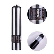 Stainless Steel Electric Salt Pepper Mill Spice Grinder Corrosion Sesame Seeds Muller Kitchen Tool