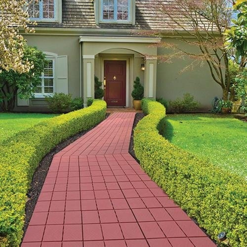 """Easy Install Faux Brick Patio Walkway Pavers 11.75"""" x 11 ... on Outdoor Pavers Patio id=47097"""