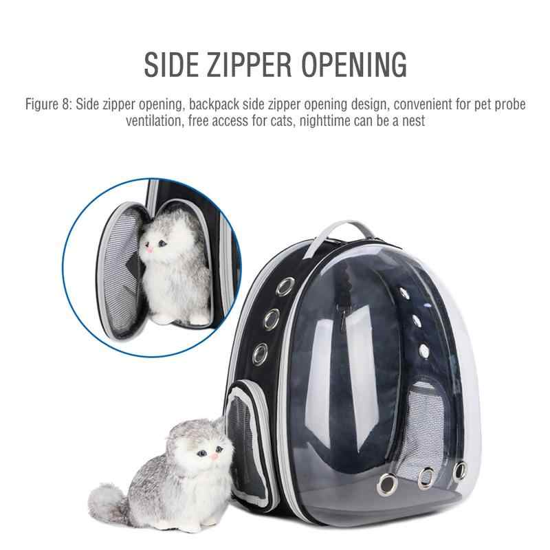 Рюкзак для переноски кошки для котенка щенка чихуахуа питомец переноска прозрачная капсула дышащий уличный походный раскладной палаточный рюкзак
