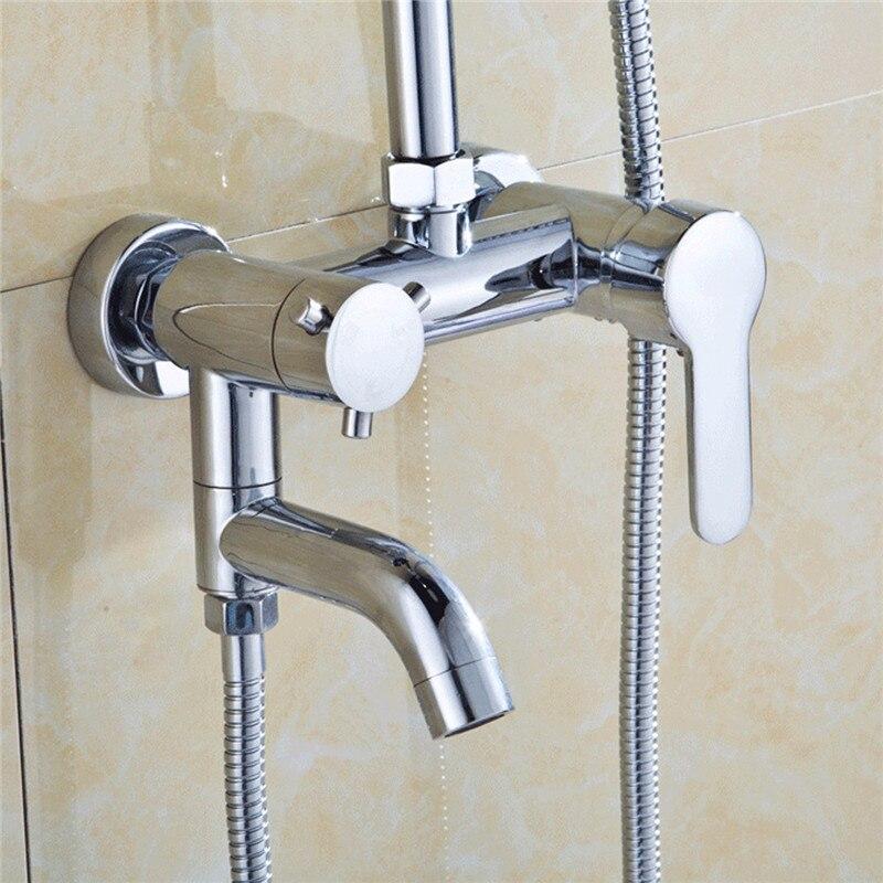 Wand Montieren Dusche Wasserhahn Mischbatterie Heißer/Kalt Wasser Chrom Messing Wasserfall Waschbecken Wasserhahn Becken Mixer Badewanne Dusche wasserhahn