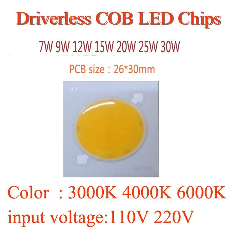 220V sürücüsüz cob modul çipləri 20W 30W 40w 50W 80W 100W 120W - İşıqlandırma aksesuarları - Fotoqrafiya 3