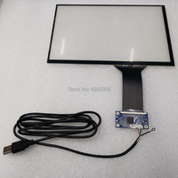 Capacitive touch screen 10.1 inch USB plug and play Support Android linux WIN7810 16:10 G+G
