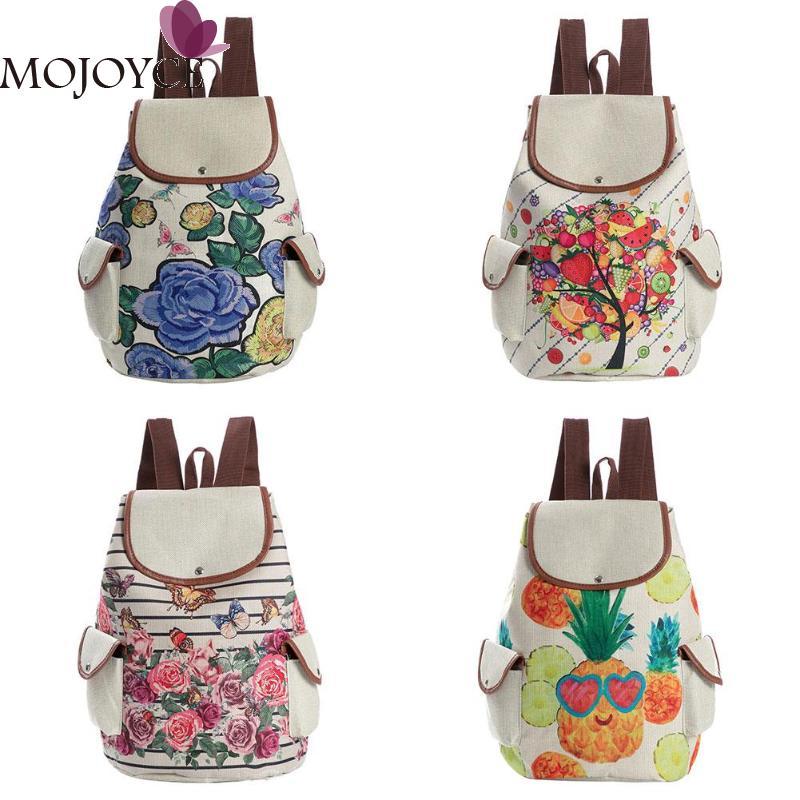 def99172d1 ... Girls Preppy Backpack Fruit Flower Print Bags Rucksack School Bag.  -11%. Click to enlarge