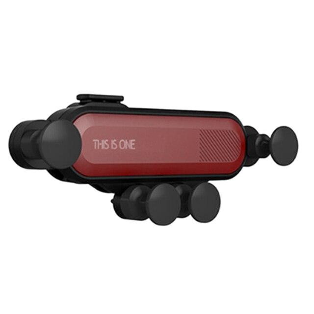 הכבידה אוניברסלי סוגר רכב טלפון מחזיק אוויר Vent הר Stand קליפ עבור Smartphone במכונית מחזיק עבור Iphone X Xs מקסימום סמסון G