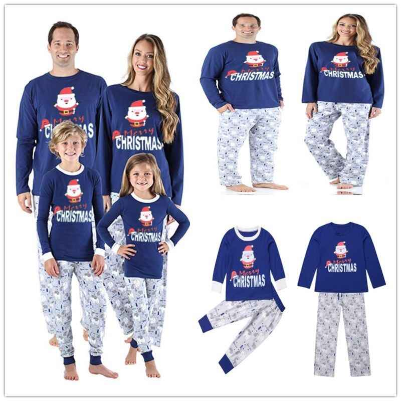 ab0a1574b6 Family Christmas Pajamas Set Warm Adult Kids Girls Boy Mommy Sleepwear  Nightwear Mother Daughter Clothes Matching