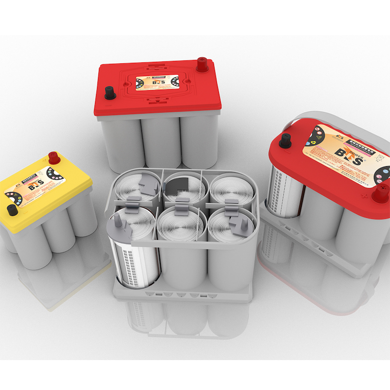 BLS Spiral red top not optima battery AGM batteries 12V75AH Deep cycle  Low temperature starting Start stop RV
