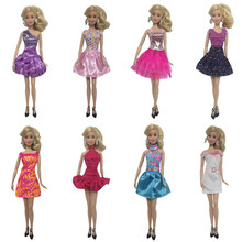 Multiple Styles Elegant Handmade Casual Fashion Party Dresses For Doll Girl Dress Clothes Clothing Accessories Children Toy