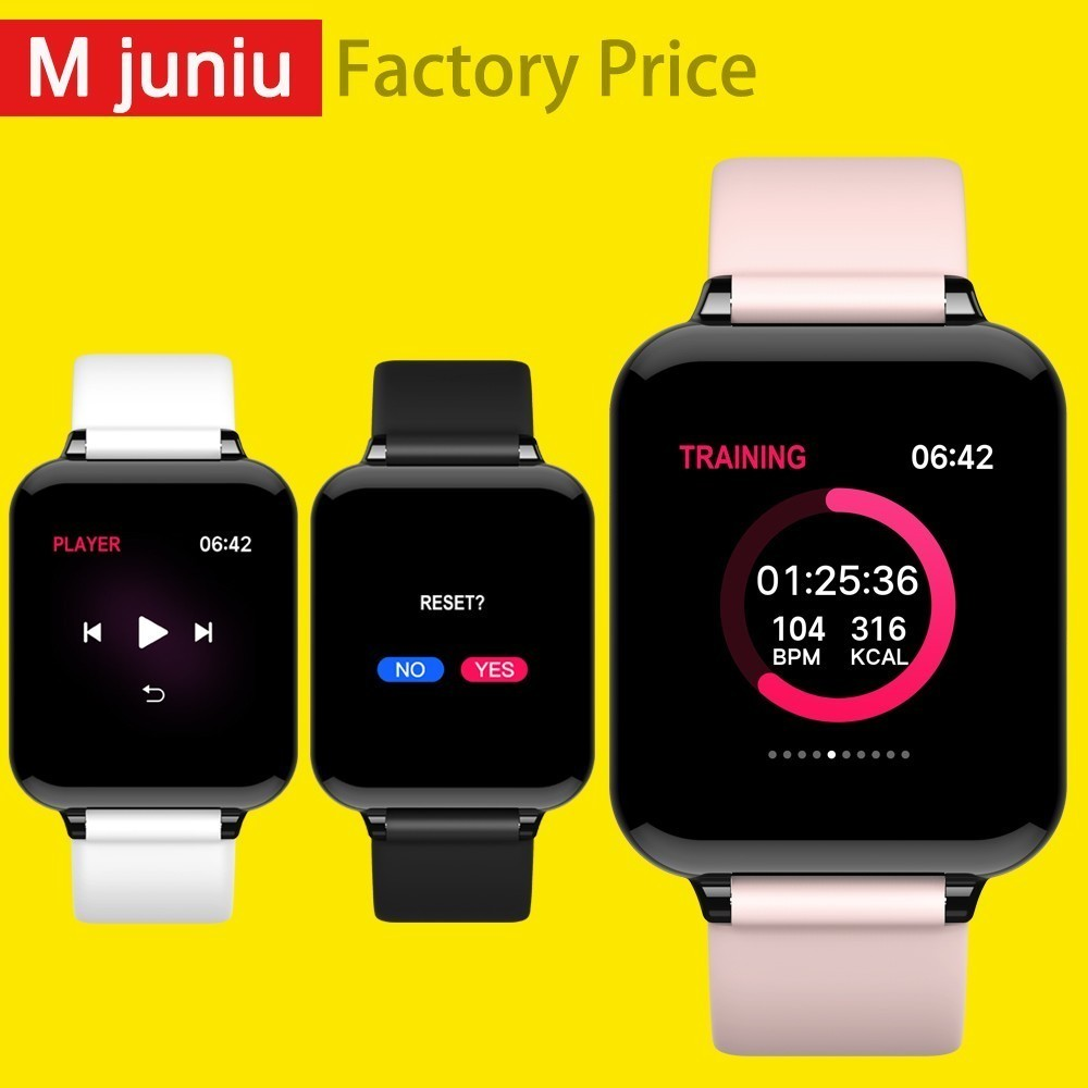 B57 Women Smart watches Waterproof Sports For phone Smartwatch Heart Rate Monitor Blood Pressure Functions For