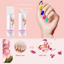 2pcs/set 60mL Nail Polish Spray+ Base Coat Nontoxic Easy to Wash Fast Drying Varnish Dropshipping