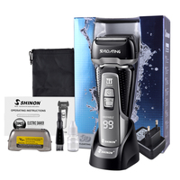 4 Blade Professional Wet & Dry Shaver Rechargeable Electric Shaver Razor For Men Beard Trimmer Shaving Machine LCD Disp