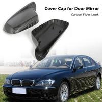 1 Pair Carbon Fiber Look Door Mirror Covers for E46 Wing Mirror Caps Rearview mirror for E66 E46 Auto Car Replacement Accessory