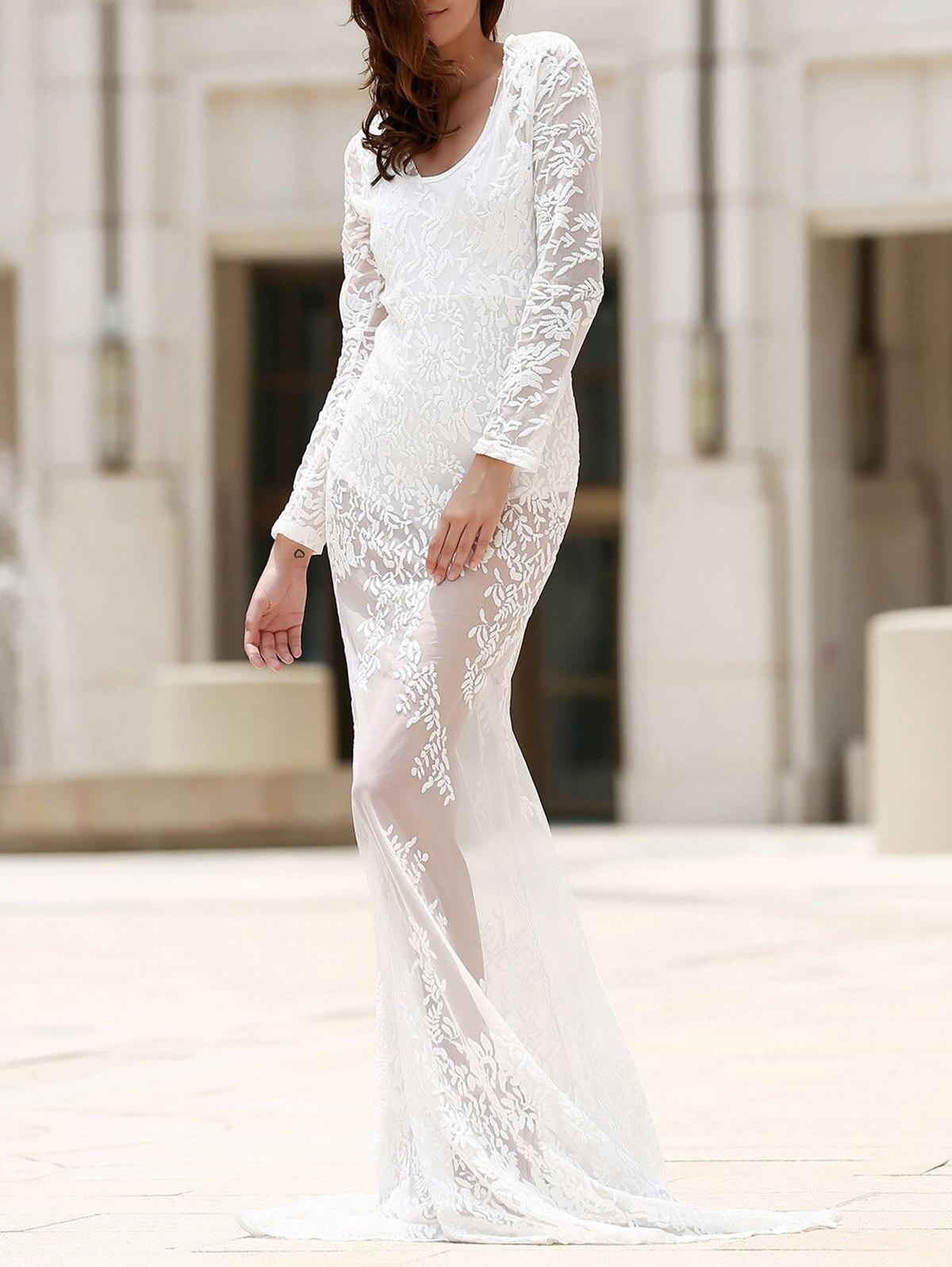Cosmera в продаже женское платье с глубоким вырезом на шее с длинным рукавом Кружевное платье для выпускного вечера вечерние платья