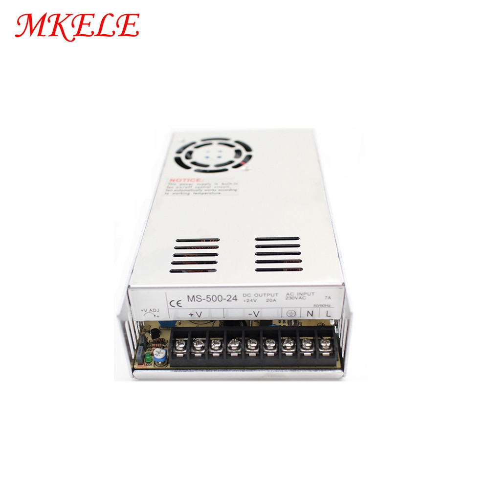 MS 500 500W Switching Power Supply 12V 24V Constant Voltage Driver