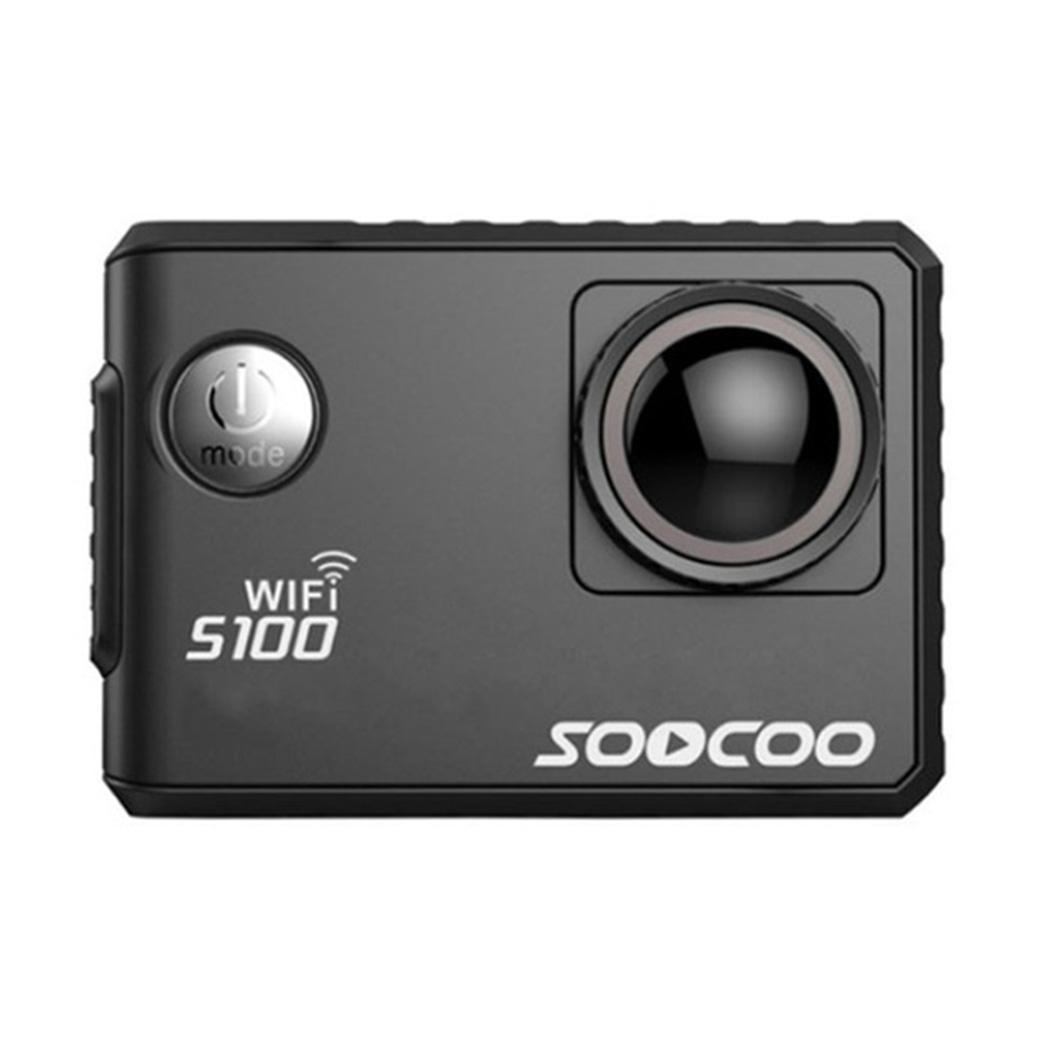 Outdoor Action Camera 4K Wifi Waterproof MP4 Diving Outdoor Mini JPG 30m (Waterproof Case) Sport Camera