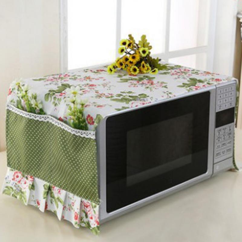 Anti Oil Microwave Dustproof Cover Flower Printed Microwave Dust Cover Home Supply Accessories With Storage Bag #1121
