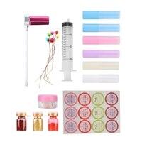 DIY Lipstick Mold Set Homemade Lip Balm Crafts Tool Transparent Jelly Wax Lipstick Container