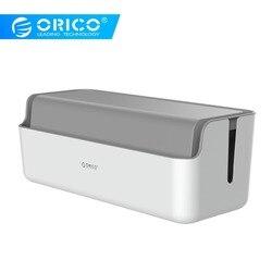 ORICO коробка для хранения силовых лент устройство для сматывания кабеля менеджер силовых лент коробка со шнуром линия для хранения Органайз...